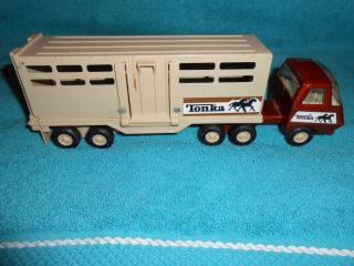 Tonka Horse Trailer with Semi Tractor Truck Vintage