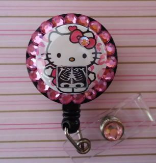 X Ray Tech Hello Kitty Retractable ID Reel Badge Holder
