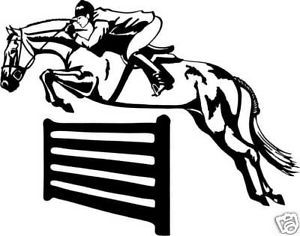 Horse Jumper Equestrian Ranch Trailer Truck Decal 10""