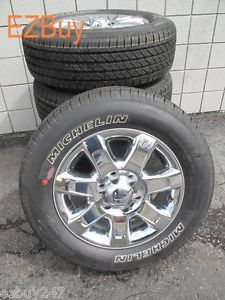 "18"" Ford F150 New Factory Chrome Clad Wheels Michelin Tires Will Fit 2004 2013"