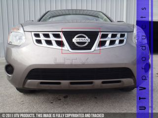 2011 2012 2013 Nissan Rogue 1pc Upper Black Billet Grille Kit Overlay 11 12 13