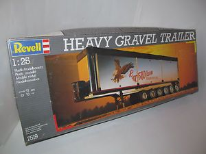 Revell Heavy Gravel Trailer 1 25 Model Kit 7519 Germany Mack Kenworth Truck More