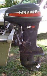 Mariner 60 HP 2 Stroke Outboard Motor Boat Engine Mercury