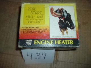 Zerostart Model 1223 Which Cross References to 3100039 Engine Block Heater