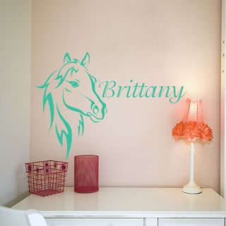 Horse Flame Equestrian Trailer Decal Free Custom Text
