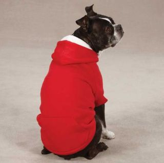 Zack Zoey Fleece Dog Hoodie Sweatshirt Coat Jacket Hooded Hood Red Green New