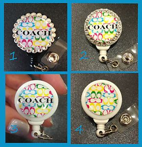 Swarovski ID Badge Holder with Retractable Reel Name Badge Holder