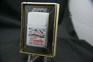 Vintage 1967 McCarthy Quarry Zippo Lighter Dump Truck Sand Gravel Stone Ohio