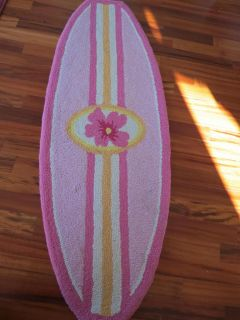 Pottery Barn Kids Island Surf Pink Surfboard Rug