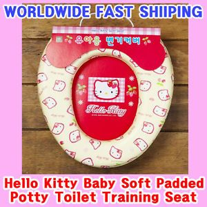 Hello Kitty Girl Baby Kids Soft Padded Potty Training Toilet Seat Cover
