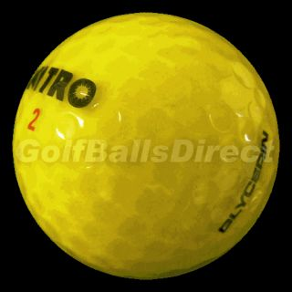 36 New Nitro Glycerin Yellow Crystal Golf Balls