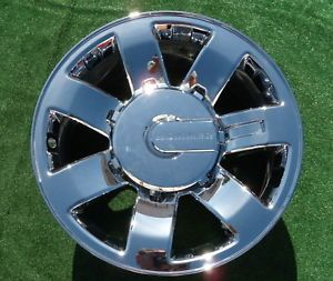 1 Original Brand New Genuine GM Factory Chrome Hummer H2 20 inch Wheel 6310