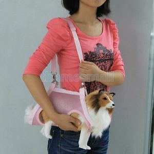 3 in 1 Multi Function Pet Dog Coat Apparel Leash Harness Carrier Bag Pink Size M