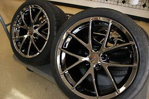 Black Chrome Spyder Wheel Michelin Tire Pkg C6 Z06 GS Grand Sport Corvette L K