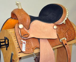 "14"" Custom Four Seasons Barrel Racing Horse Saddle"