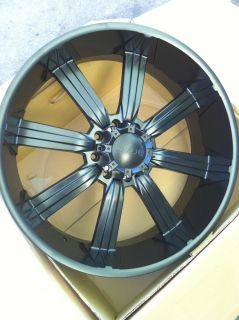 "26"" All Satin Black Wheels Tires 8x165 Hummer H1 H2 305 30 26"