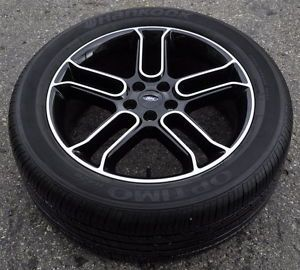 "20"" Ford Explorer Black Wheels Rims Tires 2011 2012 2013 2014 Factory Rims"