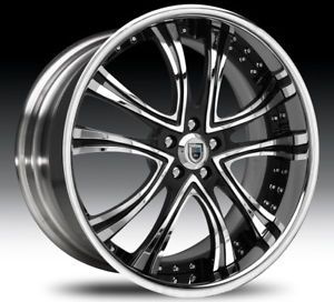 "22"" asanti AF159 Black Chrome Wheels Rims 2 Piece Tone"