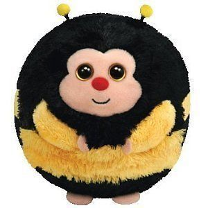 Ty Zips Bumble Bee Beanie Ballz Balls Toy Plush Animal