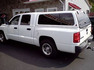 Leer Fiberglass Truck Cap White Off 2005 Dodge Dakota 4 Door