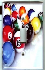 Billiard Pool Table Balls Light Switch Cover 3