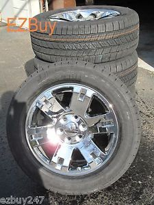 "20"" GMC Yukon Sierra Brand New Factory Style Chrome Wheels Goodyear Tires 5307"