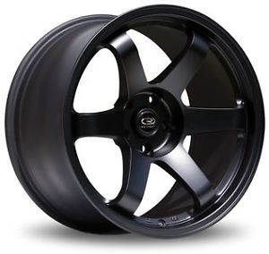 17 Rota Grid Flat Black Rims Wheels 17x9 42 5x100 Subaru WRX
