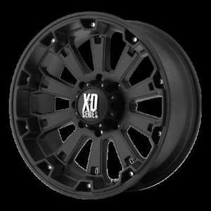 "17"" XD Series XD800 Misfit XD Series Black Offroad 17x9 0 Truck Wheels Rims Set"