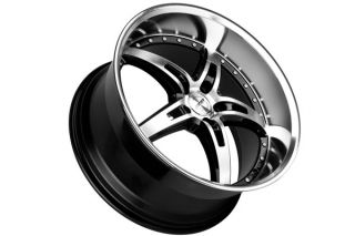 "20"" Ford Mustang MRR GT5 Black Staggered Rims Wheels"
