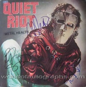 Quiet Riot Metal Health Autographed Hand Signed Album LP COA