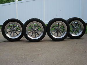 17x8 17x9 GM Chevy Camaro Coys Machined C 67 Wheels Goodyear Eagle F1 Tires