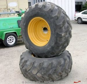 2 Goodyear IT525 19 5L 24 Backhoe Loader Tires Skip John Deere Wheels Tires