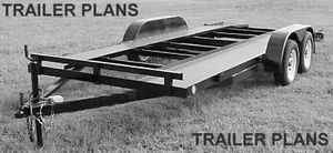 8x16 Heavy Duty Tandem Axle Car Trailer Plans Instructions Bom Build for $600