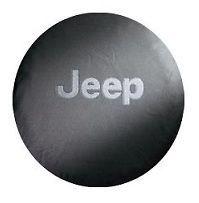 Jeep Spare Tire Cover Mopar White Jeep Logo P255 75R17 New 82209953AB