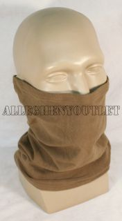 USGI Military Army USMC Coyote Tan Neck Gaiter ECW Roll Warmer Airsoft Nice