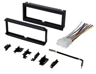 New Car Stereo Radio CD Player Dash Install Trim Bezel Kit with Wiring Harness