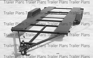 18' Heavy Duty Tandem Axle Car Trailer Plans with Instructions and Bom 30 Pages