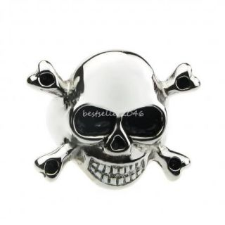 Trendy High Polished 316L Surgical Stainless Steel Mens Boys Skull Ring