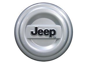 New Jeep Spare Tire Cover Molded Silver Black Mopar