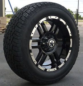 "20"" Black Wheels Tires Ford Truck F150 Expedition 20x9 20 inch 6x135 6 Lug"