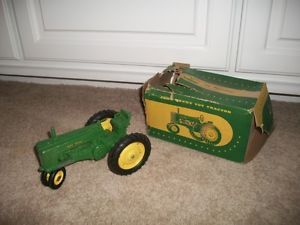 Vintage John Deere Toy Tractor Comes with Original Box Working Moveable Parts