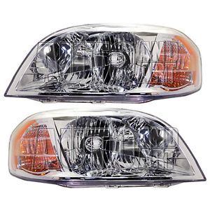 New Pair Set Headlight Headlamp Housing Assembly SAE Dot 07 11 Chevrolet Aveo
