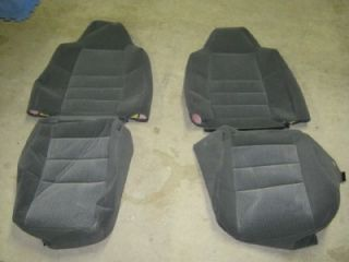 New 02 03 Ford F 250 F 350 Superduty 40 20 40 Gray Black Cloth Seat Covers