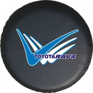 "Toyota SUV 4WD Spare Wheel Tire Soft PVC Leather Cover 30 31"" w RAV4 Logo"
