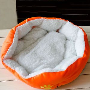 New Soft Pet Dog Cat Indoor House Nest with Plush Mat Pad for Small Medium Dog