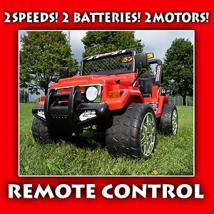 Ride on Electric Toy Car Jeep Battery Operated Remote Control RC Power Wheels