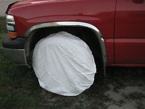 Snow Tire Cover USGI Army White Color Jeep Spare Tire Trailer Military Pack