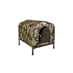 Large Dog House Camo Kennel Hound Weatherproof Portable Den Indoor Outdoor New