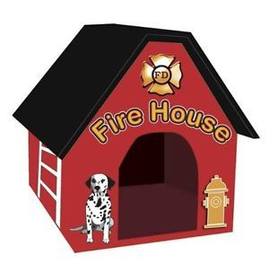 Fun Firehouse Design Luxury Comfort Padded Indoor Outdoor Dog Puppy House