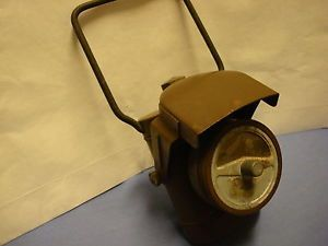 WWII Army Military Bicycle Blackout Battery Electric Lamp Lantern O D Green
